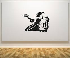 wall decals stickers home decor home furniture diy michael jackson smooth criminal music artist bedroom decal wall sticker picture