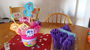 my pony centerpieces city s spot diy my pony party for my daughters