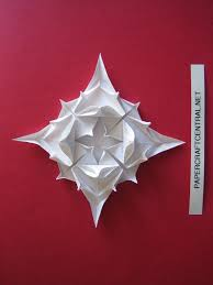 christmas crafts ornament stylish flower pattern origami and