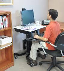 Computer Desk For Sale In South Africa Computer Cart Workfit C Mobile Standing Workstation Ergotron