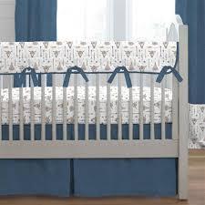 Denim Crib Bedding Blue Denim Boho Crib Bedding Carousel Designs