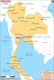 Map Of Thailand Airports In Thailand Maps Routes Roads Pinterest Thailand