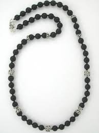 bead necklace ebay images Handmade beaded black jewelry jpg