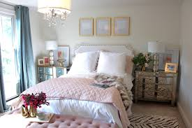 Feminine Bedroom Furniture by South Shore Decorating Blog Room Reveal Pink And Gold Feminine
