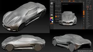audi rsq concept car zbrush car body design concept sculpt