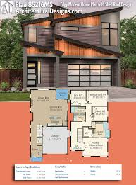 ad house plans plan 85216ms edgy modern house plan with shed roof design
