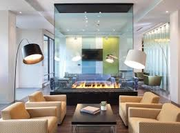 Glass Room Divider Fireplaces As Room Dividers 15 Double Sided Design Ideas
