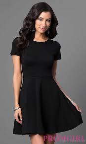 uk black short sleeve a line dress after prom particular design
