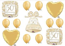 50th anniversary favors 50th fiftieth anniversary party balloons bell