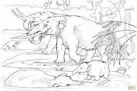 dinosaur of the week coloring the mastodon