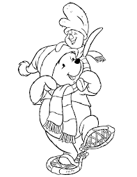 winnie and piglet free winter coloring pages winter coloring