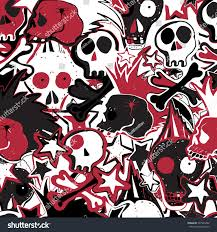 vector seamless pattern punk rock abstract stock vector 597284282