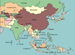 asia map with labels asia map countries only major tourist attractions maps