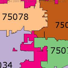 map plano plano zip code boundary map tx