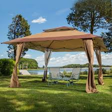 patio furniture gazebo amazon com 13 x 13 pop up canopy gazebo great for providing