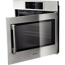 30 bosch single wall oven right swing door benchmark series