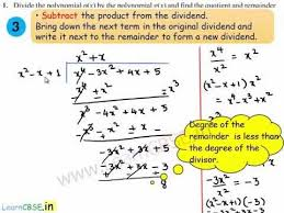 division algorithm for polynomials long division of polynomials