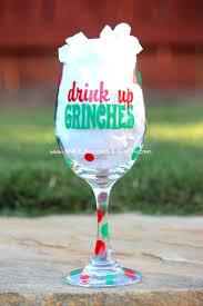 thanksgiving wine glasses drink up grinches christmas birthday bacherlorette white elephant
