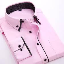wholesale polka dot double collar business shirt men solid color