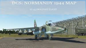 Normandy Map Dcs Normandy 1944 Map Su 25 Flight Part 1 Youtube