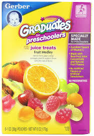 fruit treats gerber graduates juice treats fruit medley 6 ounce pouches pack