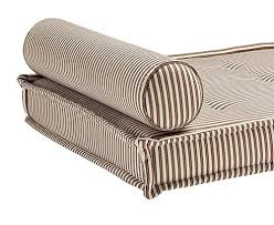 Daybed With Mattress Dhp Daybed Foam Mattress And 2 Bolster Pillows Brown Stripe