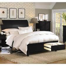 aspenhome cambridge queen size bed with sleigh headboard u0026 drawer