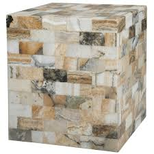 Cube Side Table Hw Home Onyx Cube Side Table