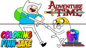 how to color finn and jake adventure time coloring page youtube