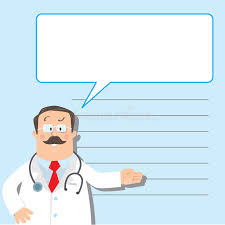 design template with funny doctor stock vector image 51310172