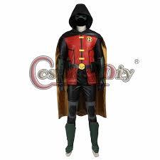 cosplaydiy justice league vs teen titans robin cosplay costume