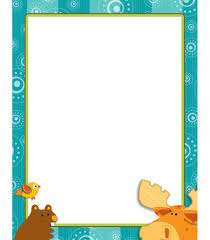 free printable thanksgiving borders moose u0026 friends computer paper from carson dellosa cdwish13 my
