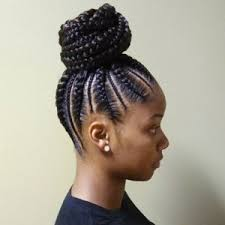 images of black braided bunstyle with bangs in back hairstyle african american braided bun braids into a bun black hair