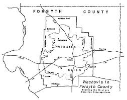 Map Of North Carolina Counties Forsyth County In The Beginning U2026 North Carolina Room Forsyth