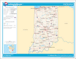 Wayne State Map Map Of Indiana Street Map Worldofmaps Net Online Maps And