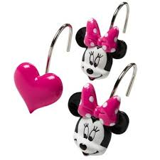Mickey Mouse Bathroom Accessory Set Product Description Page Disney Minnie Mouse Shower Curtain Hooks