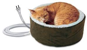 fingerhut round heated cat bed