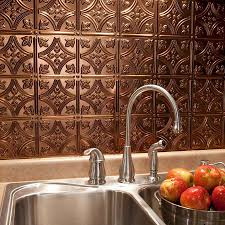 kitchen metal backsplash oil rubberd bronze panel kitchen faux tin