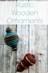 rustic wooden ornaments lovely etc