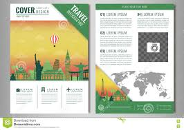 travel and tourism brochure templates free travel brochure design with landmarks and world map