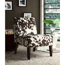 small cowhide side chair u2014 modern home interiors cowhide chair