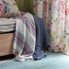 tetbury linen fabric designer floral fabric bluebellgray