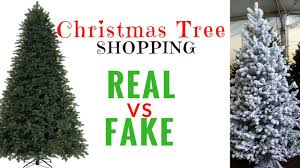 tree shopping real vs artificial