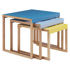 kilo multi coloured metal nest of 3 side tables buy now at