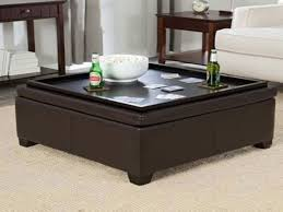 storage ottoman coffee table with trays awesome storage ottoman tray table editeestrela design throughout