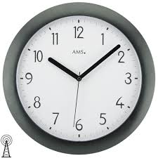 Wohnzimmer Uhren Wanduhr Ams 9382 Wanduhr Quarz Analog Schwarz Modern Metall Mit Glas