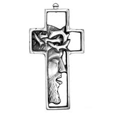 crown of thorns pewter wall cross 8 5 in free shipping