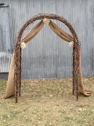 wedding arches decorated with burlap burlap wedding arbor
