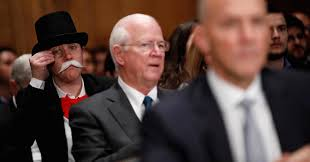 monopoly man attends senate equifax hearing