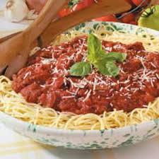 wedding gift spaghetti sauce spicy spaghetti sauce recipe taste of home